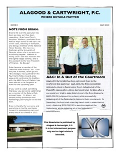 May 2013 Newsletter Page 1